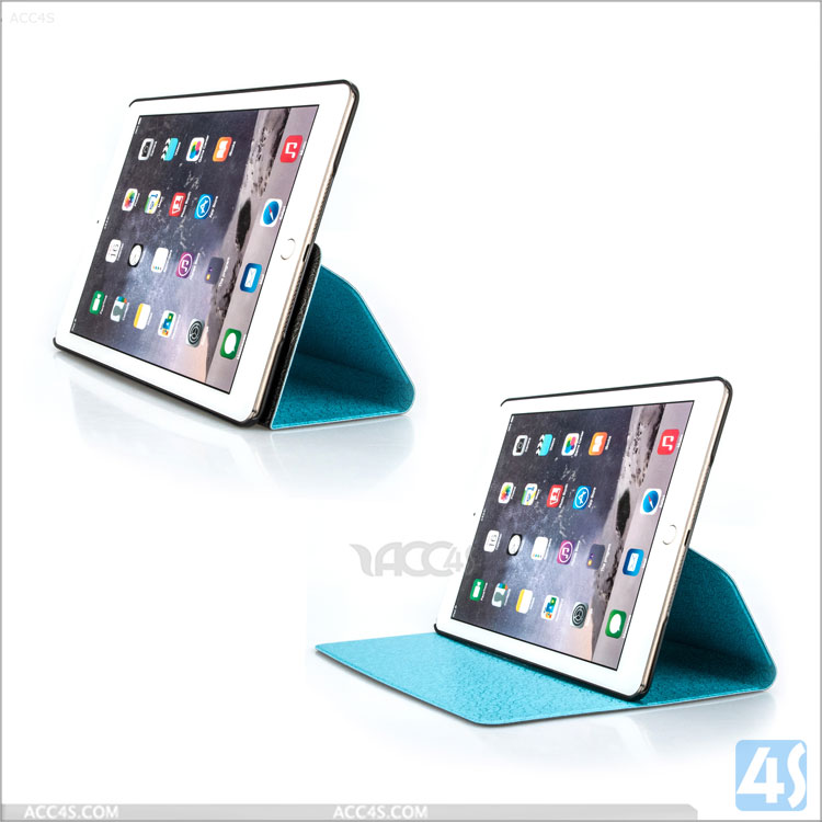 For iPad Air 2 various color awesome Matching Detachable Multi Usage Rotating Leather Case hot selling
