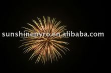 sell 3 inch gold crown display shell fireworks for christmas pyrotechnics