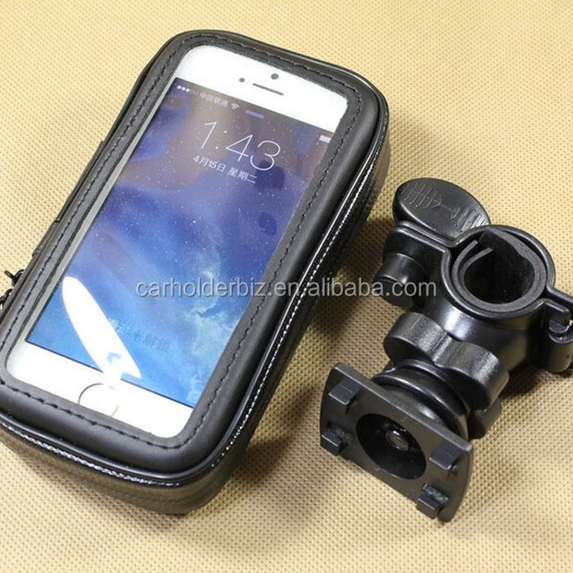 Smartphone Bike Handlebar Mount with Water Resistant Holder for iPhone 6 Plus iPhone 6 Samsung Galaxy S6 S5 S4 Note 4 3