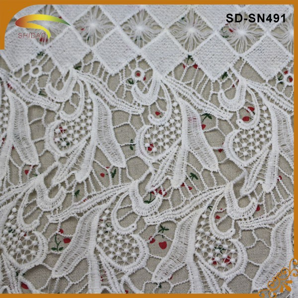 Can be dyed african dubai embroidery lace fabric view