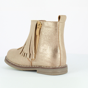 Low Price Kids Glitter Gold Tassel Boots