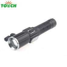 2018 New design USB Rechargeable AAA Battery 2in1 Aluminum Torch multifunction LED tactical police flashlight for camping&hiking
