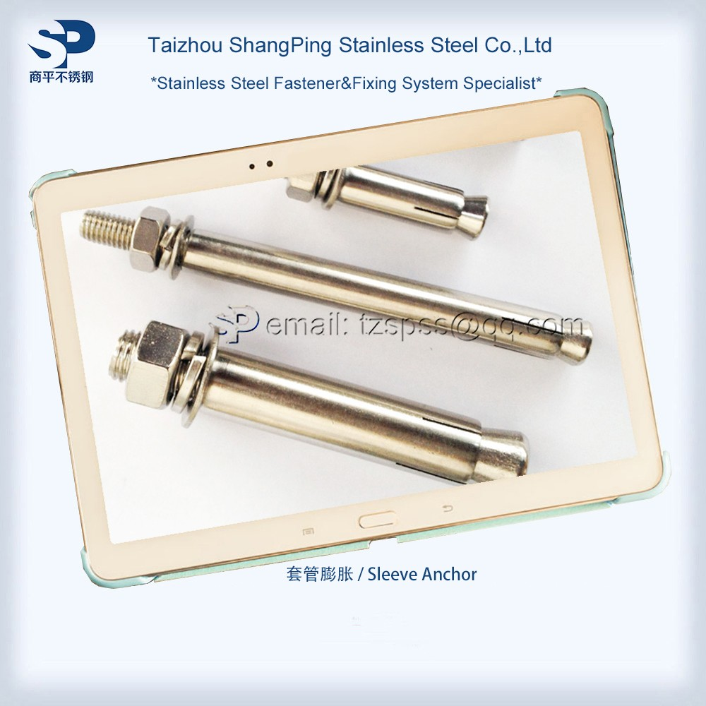 Sleeve Anchor Stainless Steel AISI 304/A2 316/A4 Sleeve Anchor for Wall Cladding M6 M8 M10