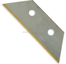 Trapezoidal cutting blade used for chenille machine