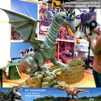 MY Dino-M30 Attractive Smoking Chinese Animatronic Dragon for sale