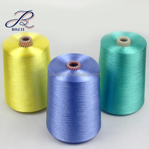 Wholesale 100% Dyed Viscose Rayon Filament Yarn 120D/30F from China Factory for machine knitting and weaving