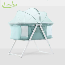 Fashion Folding Antique Baby Crib Sleeping Playing Baby Crib