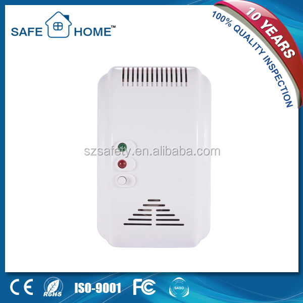 433mhz wireless battery operated natural gas detector