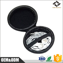 Good quality facotry cheap price wholesale carrying custom black EVA headphone case / earphone bag