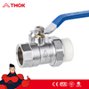 TMOK thread forged PPR union brass ball valve two-way type for water gas oil with CE certification and Hpb57-3 cheap price
