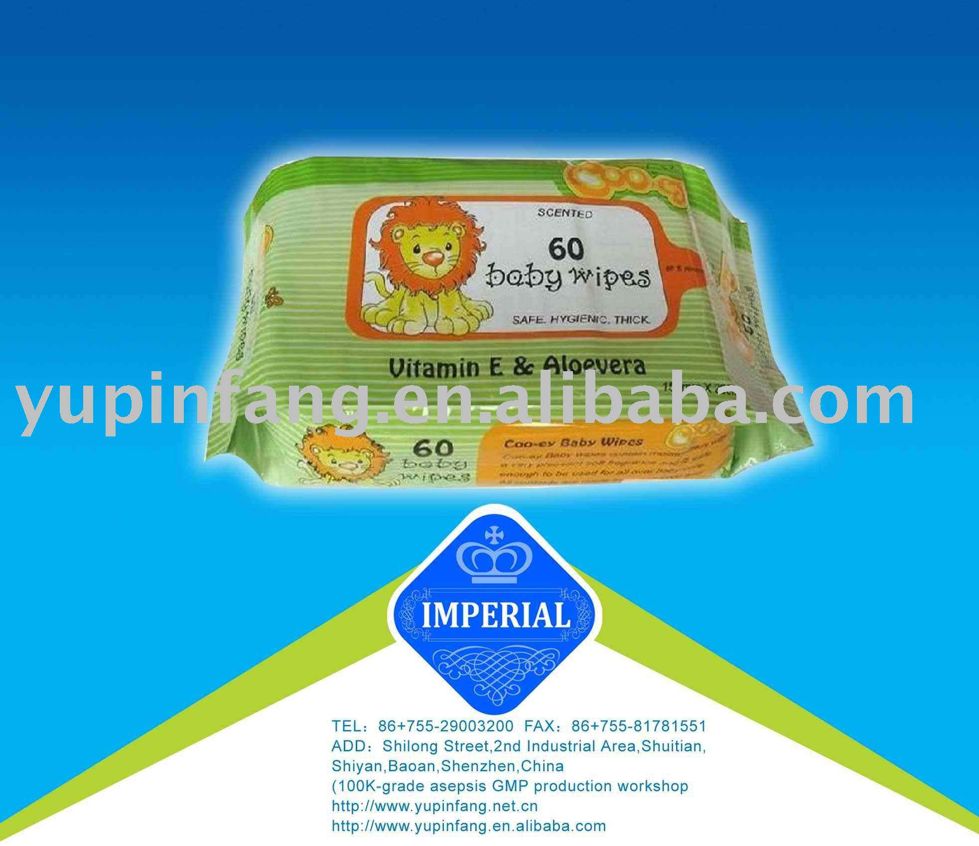 40gsm pure cotton baby wipes + custom logo