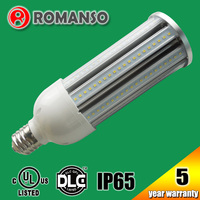 Outdoor IP65 aluminum+plastic 2835 SMD 54w led corn bulb for damp location