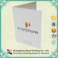 Custom print new design high quality paper corporate folder wholesale