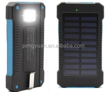 2017 hot sale made in china promotional gift dual port solar charger power bank for smartphone