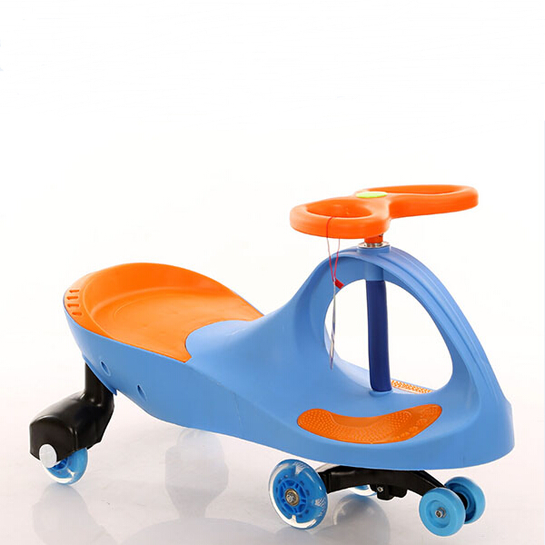 China Factory Baby Swing Slide Car Eco-friendly Kids Ride On Plasma Car with 4 Wheels Colorful Light