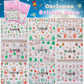 tattoo body stocking nail sticker Christmas Snowman Santa Nail Decals