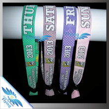 CUSTOM SLOGAN! free sample woven bracelet with sliding lock