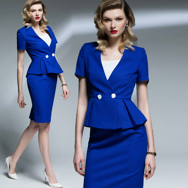 Factory Wholesale Tailor Made Fahion Design Women Skirt Suit Office Lady Formal Suit