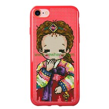 Wholesale cross stitch tpu phone case for iphone 8 8 plus