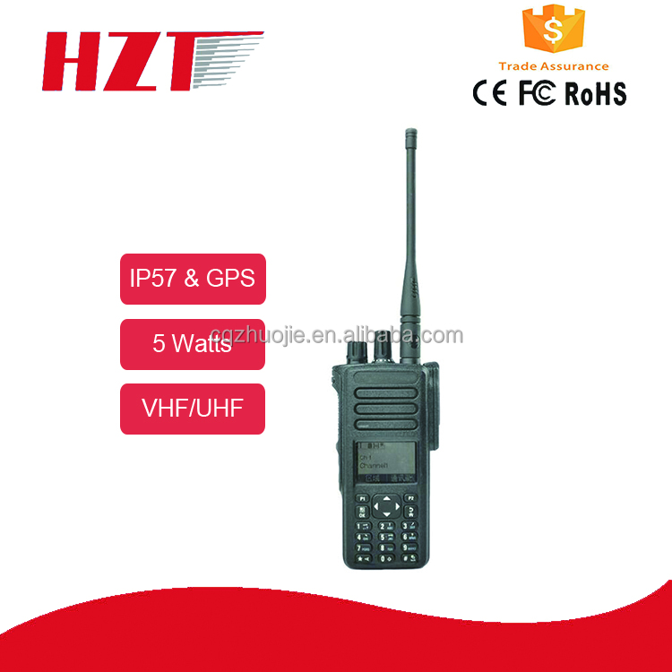 Repeater compatable digital two way radio GPS walkie talkie P8660