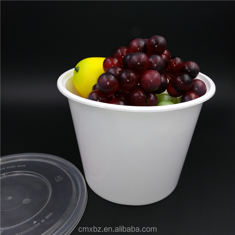 Large 2 liter disposable PP cheap plastic food grade bucket