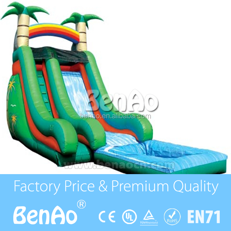 L011 inflatable forest / jungle slide, giant slide /Forest Jungle Giant Inflatable Slide Jumping Large Connercial Slide