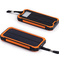 2016 Shenzhen wholesale power bank Solar 12000mAh mobile phone solar battery charger
