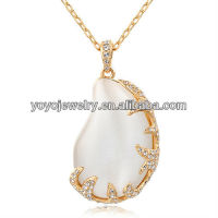 New Design 2013 Wholesale China Fashion Alloy Pearl Necklace Pendant Bridal Neckalce