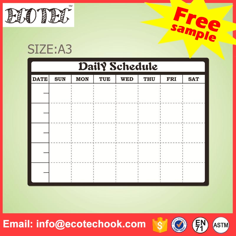 New Launch weekly planner printing mini whiteboard