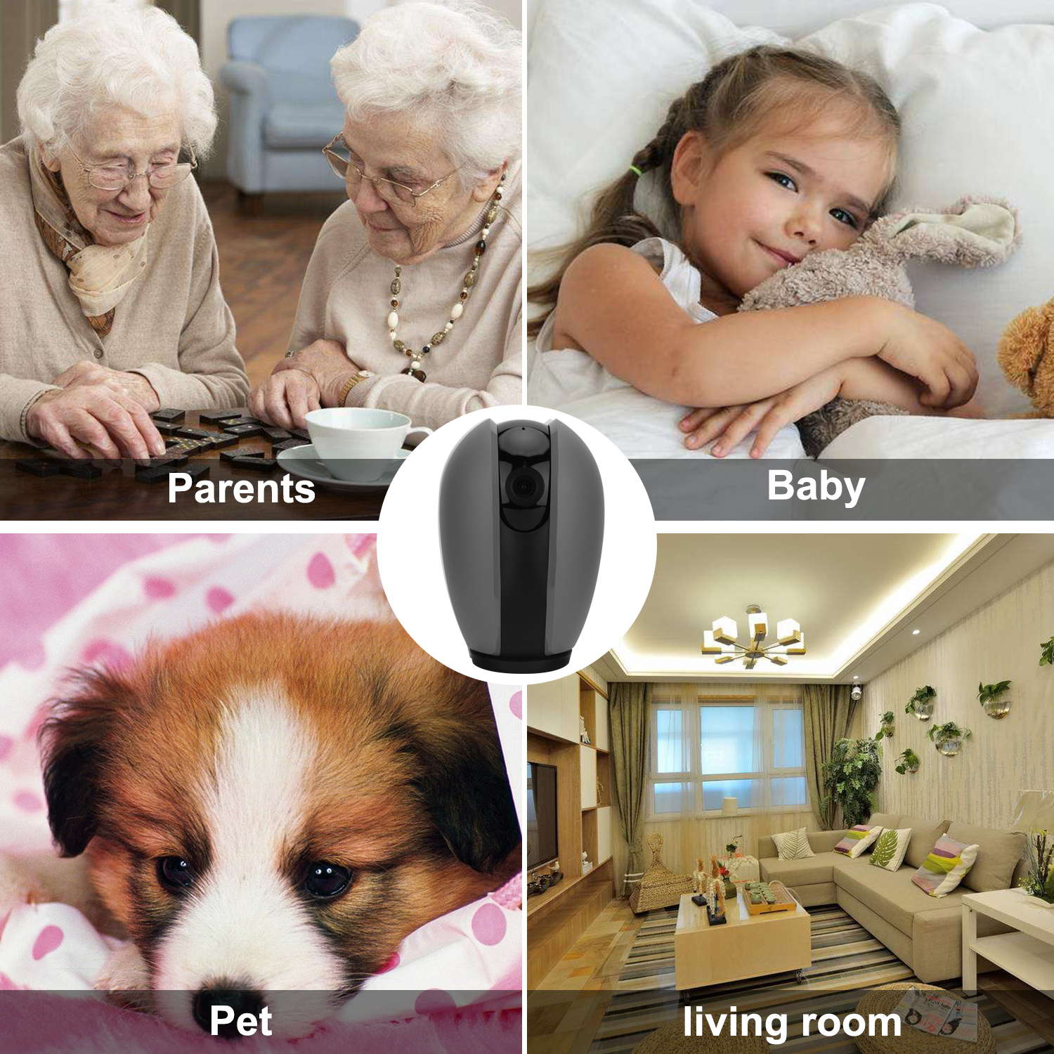 2018 Littlelf Alexa Home Smart Night Vision  Security Wireless  IP CCTV Camera 1080p with Sound Detection