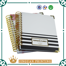 Customized Printing Gold Wire-O Bound Day Planner 2017