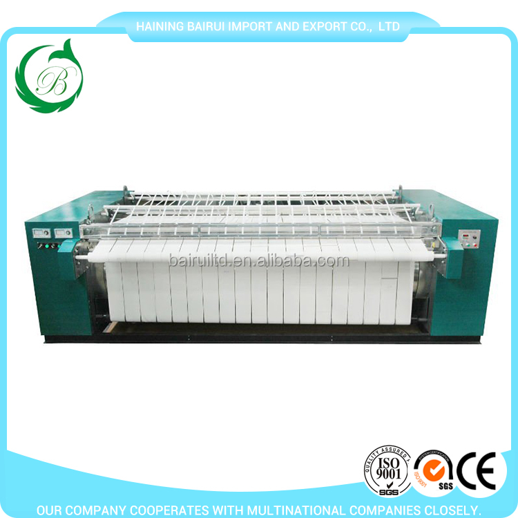 English version control panel laundry flatwork ironer used