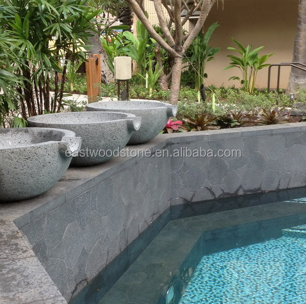 black lava stone for outdoor decoration