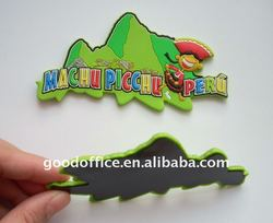 Scenery Design 3D rubber fridge magnet with embossed logo