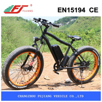 electric mountain bike with fat tire 26*4.0 but no fender