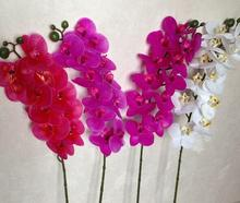 Mini Real touch latex orchid 12 heads Artificial orchid