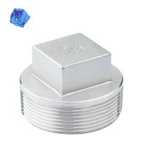 forged pipe fittings male thread square round head plug