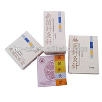 Copper silvery handle acupuncture needles