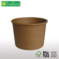 Brown kraft paper cups,food packaging containers