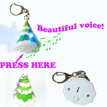 LED flash light keychain in 3D Christmas tree design 012121224