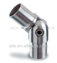stainless steel inox handrail fittings hinged pipe clips adjustable male elbow pipe connector fences