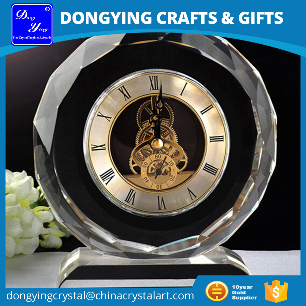 Elegant K9 Home Decorative Table Crystal Clock