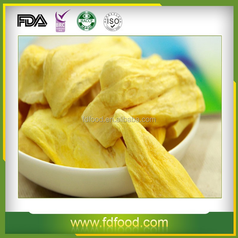Dried Style and Sliced Shape Freeze Dried Jackfruit Fruit For Sale