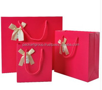 New design red shopping paper bag