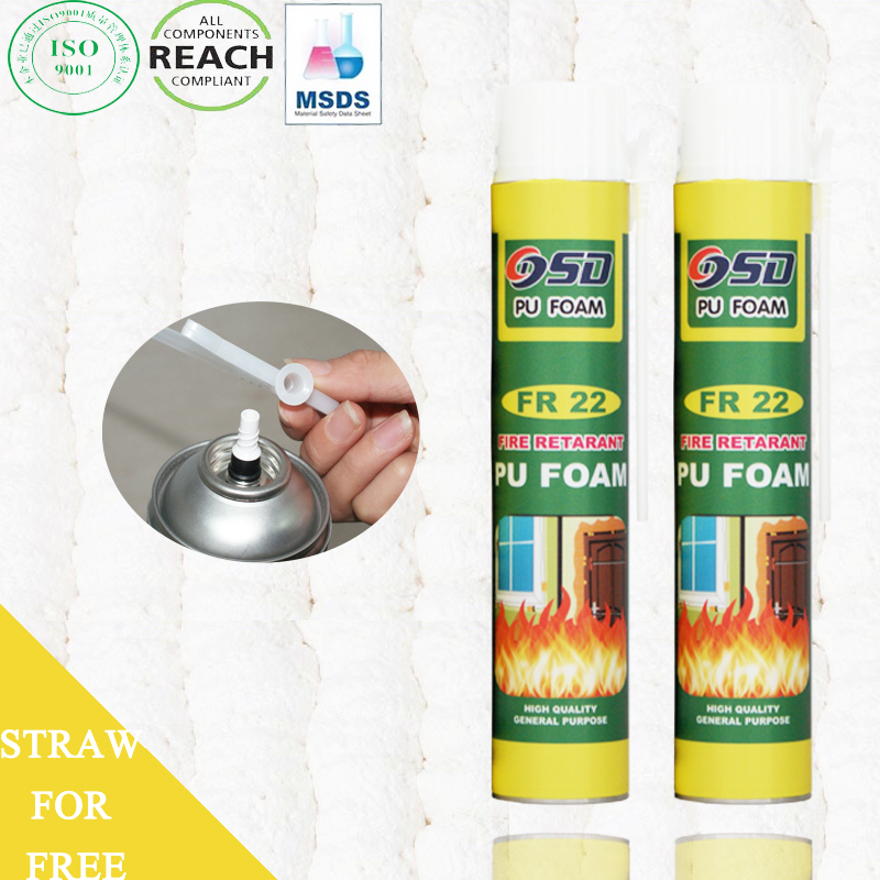 750ml 500ml 300ml construction expanding REACH insulation spray price polyurethane rigid foam