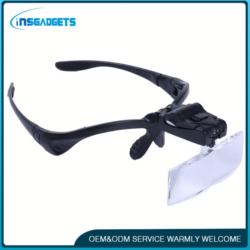 Fiber optic head lamp magnifier h0tCX head wear magnifying glass for sale