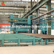 Free shiping Q69 roller conveyor type shot blasting machine for steel plate/section