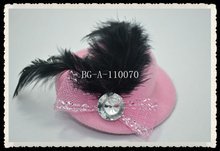 party feather fascinator mini top hats