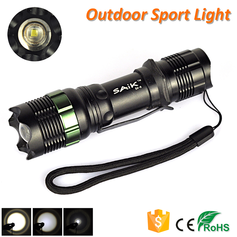 Lotus Head 3 Modes CREE Q5 Import Light Blub Aluminum LED Flashlight