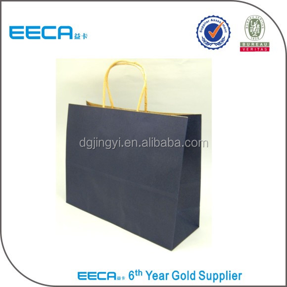 alibaba new product plain recycle blue paper bag kraft